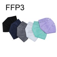 FFP3 Protective Mask Factory 99% Filter Breathing Respirator 5 layer Face Shield Disposable Folding Masks Dustproof Windproof Anti-Fog Individually Packed JY0735