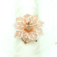 Свадебные кольца для салфетки Металлические держатели для ужинов на столе отеля украшения стола отель