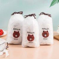 100pcs couverture alimentaire plastique frais de garde d'économiseur de sacs économiseur de sacs de bol Saran enveloppement élastique cuisine couvre-poussière couvre-poussière couverture de stockage de nourriture