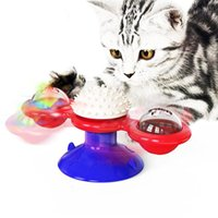 Cat Toys Selling Revolving Windmill Toy Sucker Tickle Brush Glowing Families And Demolition