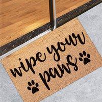 Carpets Coir Welcome Mats Entrance Door Floor Non-slip Mat Foot Pad Home Carpet For Hallway Bath Kitchen Doormat Decor 40x60CM#40