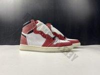 الأحذية 1 1S غرفة الكترفة شيكاغو كريستال أسفل أحمر أبيض jumpman مصمم عالية كرة السلة og الرجال الرياضية DA2728-100
