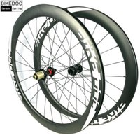 자전거 바퀴 Bikedoc 중앙 잠금 도로 디스크 브레이크 50mm 탄소 휠셋 700C 클린 처 사이클링