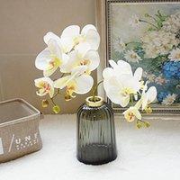 Fleurs décoratives Couronnes 3D Real Touch Artificial Butterfly Orchidy Fake Moth Fleur Floral pour maison Mariage DIY Décoration décor