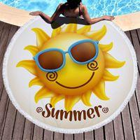 صيف 150 سنتيمتر جولة شاطئ حصيرة فلامنجوس نمط الوسادة ستوكات اليوغا بطانية بيكيني في الهواء الطلق الرياضة حمام السباحة حمام منشفة RRD7008