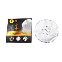 1 boîte ronde en aluminium haknah papier d'aluminium diamètre 120mm / épaisseur 0.03mm avec trous nichah shisha chia chika bol yj38