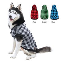 Dog Apparel Pet Clothes Hoodie Classic Grid Leisure Clothing Warm Removable Hat Puppy Shirt 8 Size 4 Colors Fashion Coats For Large Dogs
