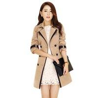 Women's Trench Coats Jacket Autumn Winter Female Basic 2021 Outerwear Windbreaker A Line Slim Plus Size 3XL