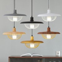 Pendant Lamps Nordic Painted Wood Light Dinning Kitchen Restaurant Dark Lamp Hanging For Home