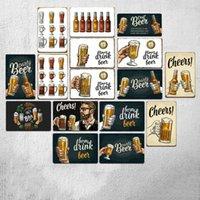2021 البيرة القصدير اللوحة ل بار المعادن البلاك 20x30 سنتيمتر خمر علامة جدار ديكور حانة نادي علامات