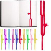Bookmark Silicone Finger Point para Livros 8 polegadas Cor Elastic Rubber Strap Marcador de Livro Reading Page Titular Escola de escritório F468