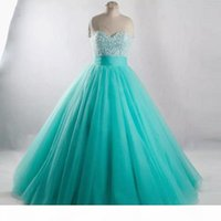 2018 New Quinceanera Dresses Long Sweet 16 Crystal Beading Backless Ball Gown vestidos de quince anos Prom Party Gowns Quinceanera Dress Q60