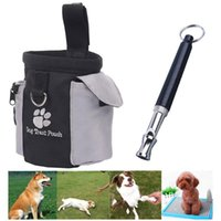 Portable Outdoor Pet Dog Training Bags With UltraSonic Whistle Repeller Pouch Treat Pets Feed Storage Puppy Reward Waist Bag Car Seat Covers