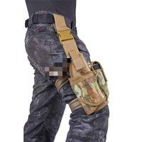 Ao ar livre multifuncional coxa com bolsa de manga de cintura Saco de armazenamento pacote de anexo de caça disponível transporte tático acessórios escondidos T10i75