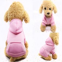 Dog Apparel Clothes Warm Dogs Hoodies Coat Pocket Jackets Puppy Overalls Small Costume Pets Outfits Supplies ZWL11