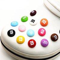 Мода Ювелирные изделия Письмо CROC CREAMMS JIBBITZ Simulation M Шоколадные бобы Обувь Украшение Реалистичные Радуга Сахарная Обувь Джибз Детские подарки