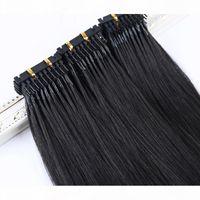 Elibess Hair-6D Extension des cheveux humains 1g S 100trands Lot Lot Straight Wave Cheveux Humains 6D