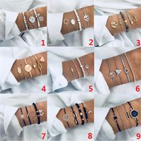 Restoring Suit Bracelet Geometric Beads Electrocardiogram Map Cross Design Multielement Chain Bracelet Women bracelets Fashion Accessoriessuit