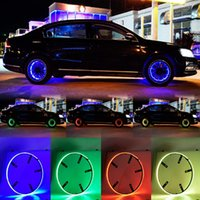 4pcs 15,5 pouces voiture RGB LED Bague de la roue de roue pour SUV Truck Dream Chasing Chasing Couleur Télécommande ou App contrôlé 14.5inch Kit de lumière 6000K 12V DC 35W
