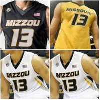 NCAA College Mizzou Missouri Tigers 농구 저지 0 토런스 왓슨 1 Xavier Pinson 2 KJ Santos 3 Ronnie Suggs 사용자 정의 스티치