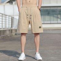 Anbican Fashion 2021 Summer BAGGY Casual Shorts Uomo Dritto Straight Slip Harem Pants Maschio Bermuda Beach Big Size 8XL