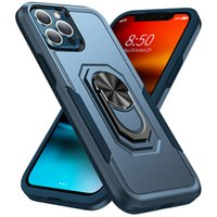 Magnetic Car Holder TPU Acrylic 2 In 1 Shockproof Phone Cases For iPhone 13 Pro Max 12 11 Xr Xs Samsung Galaxy S22 Ultra A13 A32 A72 A52 A12 A02S Moto G Pure Protective Cover