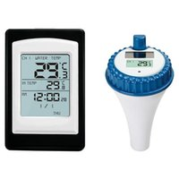 Pool & Accessories Swimming Thermometer, Wireless Sensor Waterproof Water Solar Sinking, Floating, Suitable For Pools, Spas, Aquariums