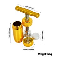 HORNET Smoking Aluminum Pollen Presser Compressor T-shape T Handle Press Dry Herb Tobacco Spice Grinder Crusher Golden Cream Whipper 2038 V2