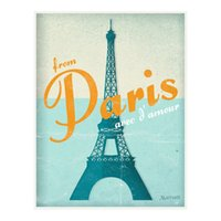 France Paris Eiffel Tower Travel Poster Painting Home Decor Framed Or Unframed Photopaper Material