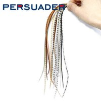 Persuader 10feathers Pack Whiting Rooster Saddle 6-9 '' Long Mixed Nat Färger Torka Fly Tying Feathers Trout Flies Material 210622
