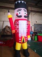 10ft grande fundo inflável ao ar livre de madeira soldado de madeira decoração de jarda de Natal personalizado Balão de caracteres do tipo de modelo personalizado
