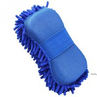 Car Care Microfiber Chenille Wash Sponges pads Mitt Cleaning Washing Glove Microfibre Sponge Cloth Washer FWD6485