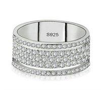 Choucong Victoria Wieck Lüks Takı 925 Ayar Gümüş Yıldız Açacağı Beyaz Safir CZ Elmas Eternity Kadınlar Düğün Gelin Rin 182 O2