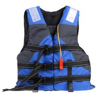 Life Vest & Buoy Polyester Adult Jacket Swimming Boating Ski With Whistle For