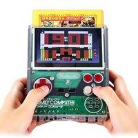 Экран 4.3-дюймовый желтый карточный игровой ручной 8-битный FC ностальгический может подключить наушники AV выходные игры Host Portable Playe Game