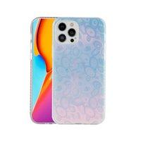Casi del telefono del diamante trasparente per iPhone 13 12 11 Pro Max XS XR 7 8 Plus 13promax PC + coperchio di protezione TPU