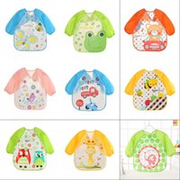 Baby Boys Girls Long Sleeve Waterproof Feeding Art Apron Bib Smock Cute Animal Bibs Cloths Toddler Kids Accessories696 Y2