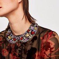 Chokers Elegante moda esagerato abbigliamento strass abbigliamento falso collare girocollo collana accessori costume