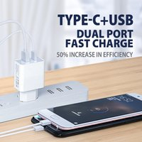 20W phone Charger Type-C+USB dual port for iphone High Speed Android and laptop universal pd fast charging head