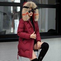 الدافئة كوتون ضئيلة الفراء طوق الشتاء معاطف الإناث ستر 2020 جديد الصلبة سميكة طويلة الأكمام الملابس النساء جاكيتات هوديس امرأة معطف 1