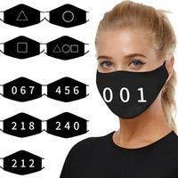 Black styles Bandage Face Mask 10 Game Print Protection Earloop Toys Unisex Adjustable Reusable Masks Washable Adult Hallowe Fwjot