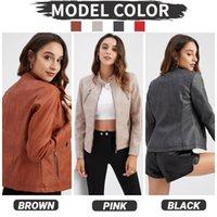 Autumn Women Pu Leather Jacket Woman Zipper Short Coat Female Punk Bomber Faux Motorcycle Outwear Women's Jackets