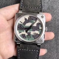 42 мм мужские часы Miyota 9015 автоматический механический сапфир кристалл водонепроницаемый мужской наручные часы BR03-92 BR03 92 черные камуфляжные часы на день рождения подарок