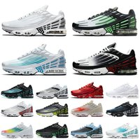 2021 Arrival Authentic TN Plus Tuned 3 III 2 Running Shoes Men Women Trainers All White Black Silver Air Laser Blue TNs Sport Sneakers Leather Obsidian Max Ghost Green