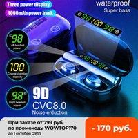 tws bluetooth earphone 4000mAh v5.0 Stereo Wireless Waterproof Earbuds With 3 LED Display Sport Wireless Headsets