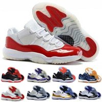 Cheap XI(11) LOW Bred Basketball Shoes Black Red Sports Boots 11s Low Concords Men Athletics Discount Sneakers