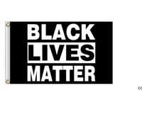 Black Lives Matter Flag Banner Supplies For Outdoor BLM Peace Protest Outdoor Banner Bracelet DHF10075
