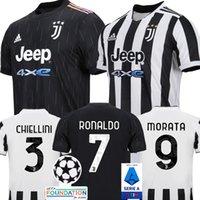 유벤투스 축구 유니폼 21 22 Ronaldo Dybala Morata Chiesa McKennie 2022 축구 셔츠 남성 키트 Maillot Camiseta Futbol