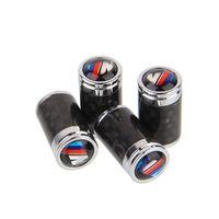 Gerçek karbon fiber araba lastik vanası hava kapaklar fişler M-güç kaynaklanıyor /// m 4 adet / takım