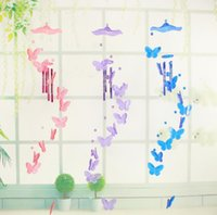 Novelty Butterfly Windbell Ornaments Creative Craft Wind Chime Gifts Aeolian Bells For Home Decoration SN2296